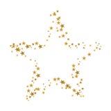 boże narodzenie złota gwiazda royalty ilustracja