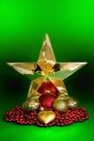 boże narodzenie złota gwiazda obraz royalty free