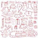 Boże Narodzenie zabawki Doodles Fotografia Royalty Free