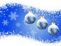Boże Narodzenie zabawki i płatki śniegu - ilustracja ilustracji