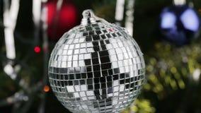 Boże Narodzenie zabawki lustra piłka krąży zdjęcie wideo