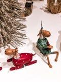 Boże Narodzenie zabawki w najlepszy widoku obrazy stock
