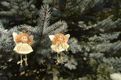 Boże Narodzenie zabawki w postaci aniołów Zdjęcie Stock