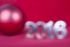 Boże Narodzenie zamazująca tło karta 2016 Zdjęcia Stock