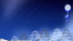 Boże Narodzenie zegar royalty ilustracja