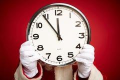 Boże Narodzenie zegar fotografia stock