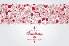 Bożego Narodzenia życzenie z boże narodzenie ilustracyjnym ornamentem ilustracji