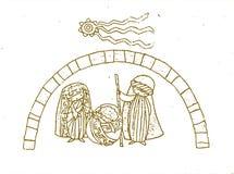 Bożego Narodzenia 2 ściąga ilustracja wektor
