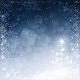 Bożego Narodzenia błękitny tło Obrazy Royalty Free