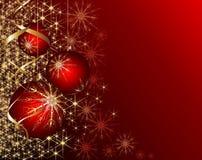 Bożego Narodzenia błyszczący czerwony tło Fotografia Royalty Free
