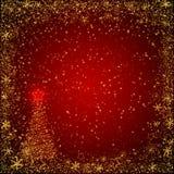 Bożego Narodzenia czerwony i złoty tło Obrazy Stock