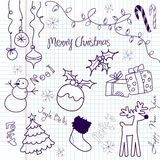 bożego narodzenia doodle Fotografia Stock