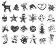 Bożego Narodzenia doodle ikony ilustracji