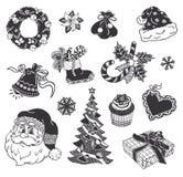 Bożego Narodzenia doodle ikony Obraz Royalty Free