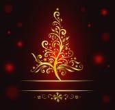 bożego narodzenia drzewo kędzierzawy złocisty Fotografia Stock