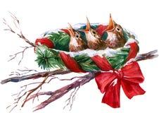 Bożego Narodzenia gniazdeczko ilustracja wektor