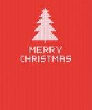 Bożego Narodzenia Trykotowy tło z drzewem również zwrócić corel ilustracji wektora Zdjęcie Royalty Free