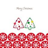 Bożego Narodzenia wesoło kartka z pozdrowieniami Obrazy Royalty Free