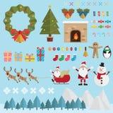 Bożenarodzeniowa śnieżna dekoracja Fotografia Stock
