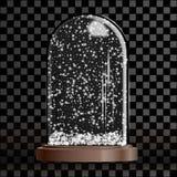 Bożenarodzeniowa śnieżna kula ziemska odizolowywająca na przejrzystym w kratkę tle royalty ilustracja