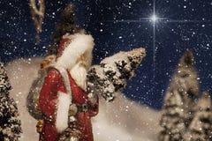 Bożenarodzeniowa Święty Mikołaj gwiazda Fotografia Royalty Free