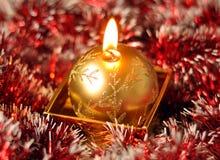 Bożenarodzeniowa świeczka zdjęcie royalty free