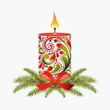 Bożenarodzeniowa świeczka. Zdjęcia Stock
