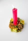 Bożenarodzeniowa świeczka na wakacje Zdjęcia Royalty Free