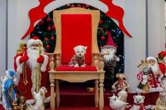 Bożenarodzeniowa atmosfera, nowy rok dekoracje Santa claus fotografia stock