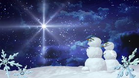 Bożenarodzeniowa bałwan gwiazda z płatkami śniegu ilustracja wektor