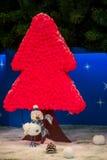 Bożenarodzeniowa bałwanu i menchii drzewa dekoracja Obraz Stock