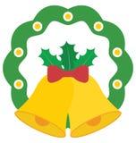 Bożenarodzeniowa Bell Wektorowa ikona która może łatwo redagować lub modyfikująca royalty ilustracja