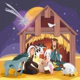 Bożenarodzeniowa biblii opowieść Bożenarodzeniowa narodzenie jezusa karta royalty ilustracja