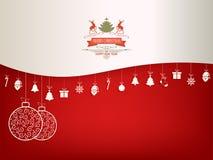 Bożenarodzeniowa czerwień, biały tło royalty ilustracja