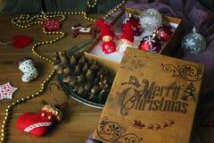 Bożenarodzeniowa dekoracja i biżuteria zdjęcia stock