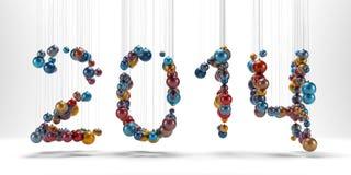 Bożenarodzeniowa dekoracja jak znaki 2014 Obrazy Royalty Free