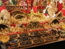 Bożenarodzeniowa dekoracja na Bożenarodzeniowym rynku Zdjęcie Royalty Free