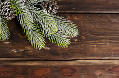 Bożenarodzeniowa dekoracja na drewnianych deskach fotografia royalty free