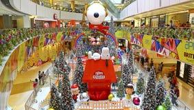 Bożenarodzeniowa dekoracja przy apm zakupy centrum handlowym, Hong kong obrazy royalty free