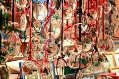 Bożenarodzeniowa dekoracja, Wiedeń bożych narodzeń rynek Zdjęcia Royalty Free