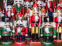 Bożenarodzeniowa dziadek do orzechów zabawkarskiego żołnierza kolekcja Różnorodny tradycyjny Obrazy Stock