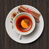 Bożenarodzeniowa herbata z pikantność, aromatyczny rozmyślający wino royalty ilustracja