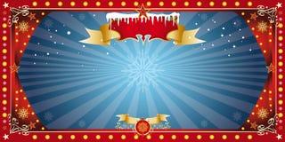 Bożenarodzeniowa horyzontalna błękit karta Obraz Royalty Free
