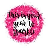 Bożenarodzeniowa i Szczęśliwa nowego roku powitania wakacji ręki literowania karta Zdjęcie Stock