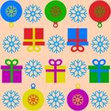 Bożenarodzeniowa i Szczęśliwa nowy rok dekoracja royalty ilustracja