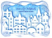 Bożenarodzeniowa i Szczęśliwa nowy rok karta obrazy royalty free