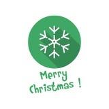 Bożenarodzeniowa ikona śnieg Zdjęcie Stock