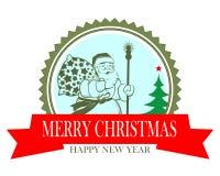 Bożenarodzeniowa ikona z Święty Mikołaj Obraz Royalty Free