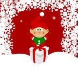 Bożenarodzeniowa ilustracja leprechaun na śniegu Zdjęcia Stock