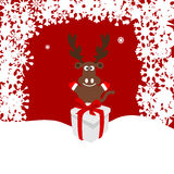 Bożenarodzeniowa ilustracja rogacz w śniegu Fotografia Stock
